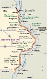scenic drives missouri map Great River Road Howstuffworks