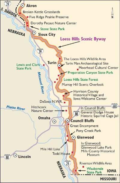 iowa scenic byways map Loess Hills Scenic Byway Howstuffworks iowa scenic byways map