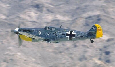 WW2 German Luftwaffe Fighter Plane Messerschmitt 109 Picture