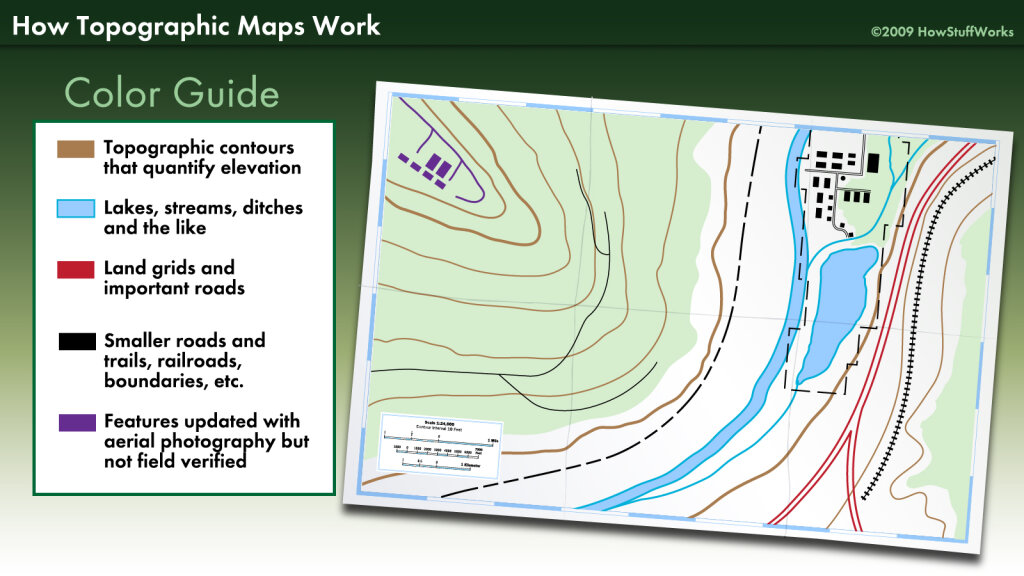 What Do Contour Intervals On A Topographic Map Show Topographic Map Contour Lines | HowStuffWorks