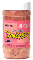 Pickled ginger, or gari