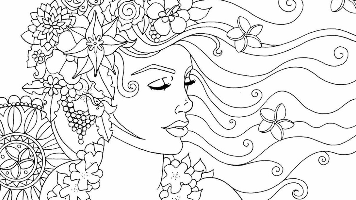 Artist Anastasia Catris created the image above. It's pulled from one of nine adult coloring books that Catris has made so far. Anastasia Catris