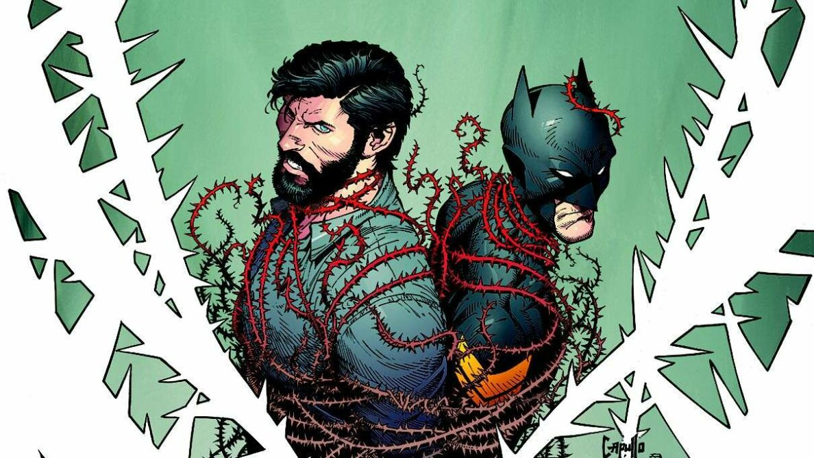 Captured! Bruce Wayne (left) and Jim Gordon as Batman (right) DC Comics