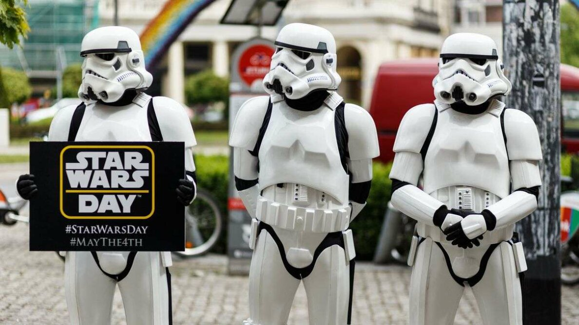 Fans celebrate Star Wars day on May 4, 2015, in Warsaw, Poland. Mateusz Grochocki/Getty Images Poland/Getty