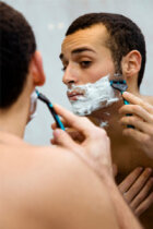 At what age should boys start shaving?
