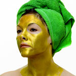 The gold facial tightens and lightens your skin.