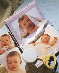 Before long, the baby shower's guest of honor will be showing off pictures of her own newborn.