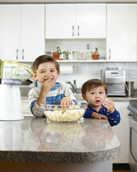 Sans oil, butter and salt, popcorn is a healthy snack.