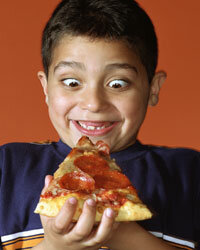 Kids go crazy for pizza, but save the real stuff for a treat.