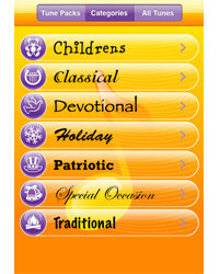 """""""Tappy Tunes"""" lets you choose from a number of musical genres."""