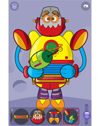 """Your child can customize his or her robot in any number of ways in """"Build a Robot."""""""