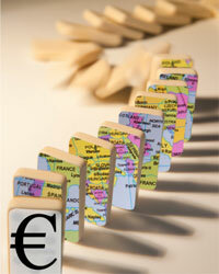 The global recession has had a financial domino effect across Europe. See more recession pictures.