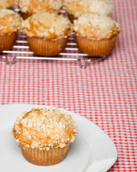 A sweet glaze and streusel crumb topping make cupcakes irresistible.
