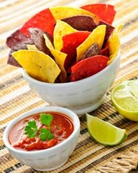 Why not make your own salsa? Throw in a few tomatoes, a bit of onion and garlic and whatever spices and seasonings you like.