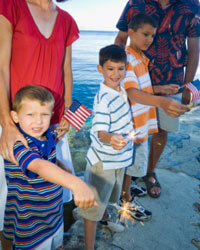 Sparklers are a common part of family holiday celebrations, but it's important to remember that you're basically carrying around fire on a stick.