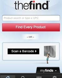 The Find app's barcode scanner finds the lowest price of the item you're shopping for.