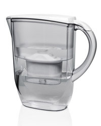 A regular water filter like this one might get rid of impurities, but it won't do much about fluoride in your water.