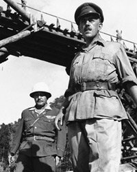 "Alec Guinness, right, is shown in this scene from the film ""Bridge on the River Kwai."""