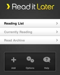The Read It Later app lets you save content from your favorite online sources to read it at your convenience.