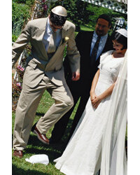 Breaking a wine glass is a traditional part of Jewish weddings.
