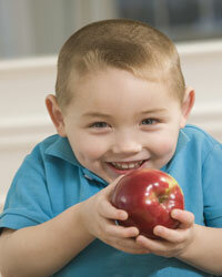 Squeezing lemon juice on sliced apples keeps them from browning.