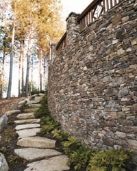 Thin veneer stones can come from a variety of different stones, including fieldstone, limestone and sandstone.