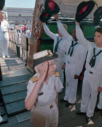 Admiral Hopper at her retirement ceremony in 1986