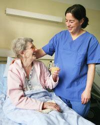 Sure, she's smiling. She has long-term care insurance.