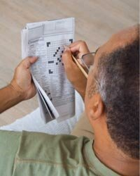 Crossword puzzles: Just like taking a test, but more fun.