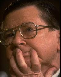 John Tower at his 1989 Senate confirmation hearing.