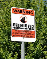 Neighborhood watch groups can help identify possible burglars.