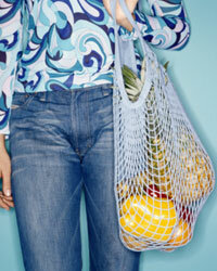 Bring your own bag to the store -- and avoid shrink-wrapped produce.