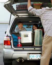 You may need to pack the trunk to bursting for a family trip, but be sure to unload everything when you get home.