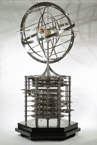 The Orrery uses the same type of mechanism as the 10,000 Year Clock to measure the movement of the planets.