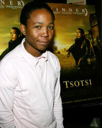 Presley Chweneyagae during Miramax's premiere of Tsotsi in New York City.
