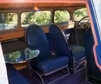 Seats in the 1936 Scarab could be moved for comfort .