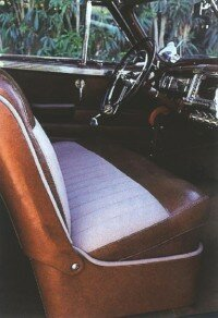 Chrysler President David A. Wallace, the original owner, changed the interior to Tolex in 1946.