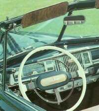 The DeSoto convertible dashboard featured a simple, easy-to-use design.
