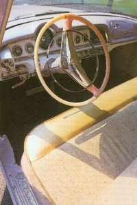 Even the steering column and part of the wheel carried the color scheme.