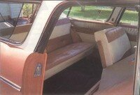 The 1956 Pontiac Safari interior continued to be luxurious; base price was now $3,129.