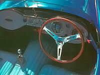 The 1957 Devin SS's dashboard was designed for left- or right-handed drivers.
