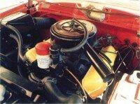 A look underneath the 1960 Lark Regal VIII's hood.