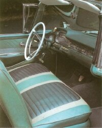 The bold design of the 1959 Ford Galaxie extended to its spacious, thoughtful interior.