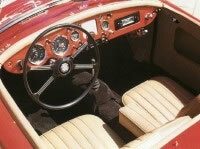 The 1960 MGA 1600 Roadster was a pure two-seater sports car.