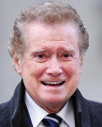Regis Philbin on his way to the studios of Live with Regis and Kelly.