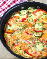 Frittatas are equally yummy served warm or at room temperature.