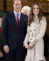 Fashion royalty Kate Middleton sports a trench while visiting Belfast with Prince William on March 8, 2011.