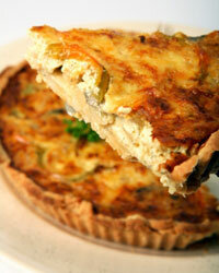 Quiche is the perfect food to serve for brunch.