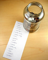 Making lists can help you keep as much change in your pockets as possible.