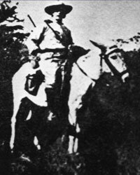 Surprise! No pictures of the imaginary El Dorado exist. But here's an old shot of Percy Harrison Fawcett just before he rode into the Amazon.